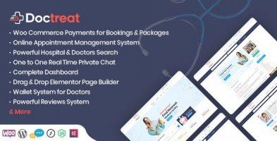 قالب پزشکی Doctreat وردپرس نسخه 1.4.5