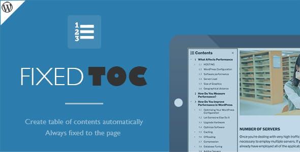 افزونه فهرست مطالب Fixed TOC وردپرس