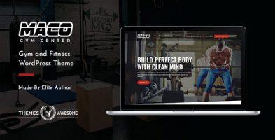 قالب باشگاه و بدنسازی Maco وردپرس نسخه 1.6