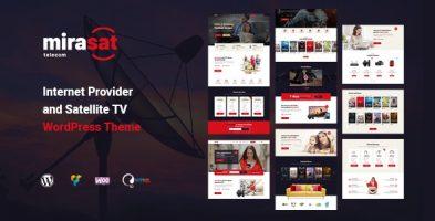 قالب ارائه دهنده اینترنت و تلویزیون ماهواره ای Mirasat وردپرس نسخه 1.1.0