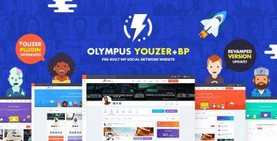 قالب  شبکه های اجتماعی Olympus وردپرس نسخه 3.80