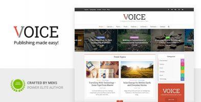 قالب مجله خبری Voice وردپرس نسخه 2.9.9