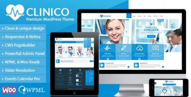 قالب پزشکی و بهداشت Clinico وردپرس نسخه 1.8.0