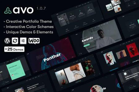 قالب پروفایل ساز و خلاقانه Avo وردپرس نسخه 1.1.3
