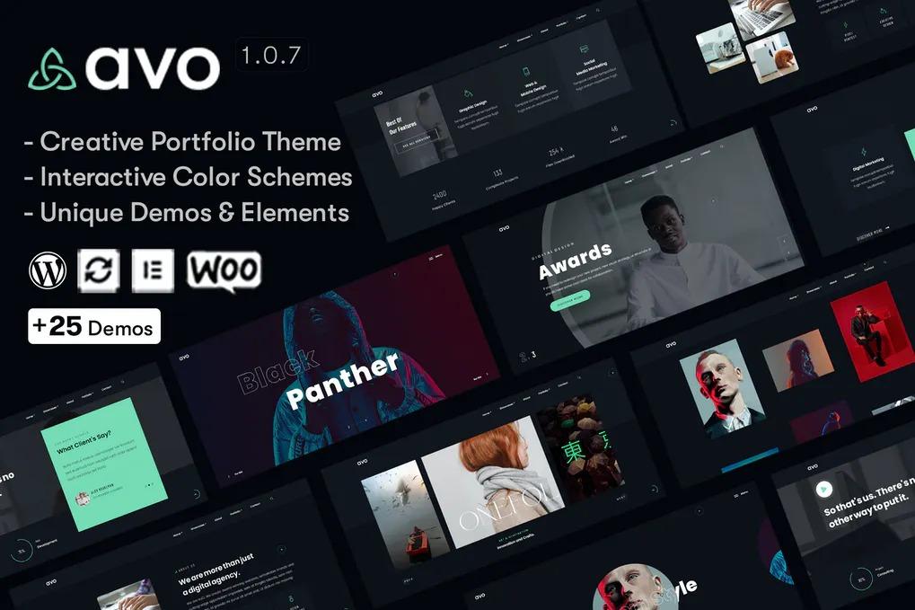 قالب پروفایل ساز و خلاقانه Avo وردپرس