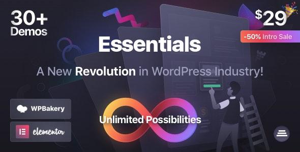 قالب چند منظوره Essentials وردپرس نسخه 2.0.7