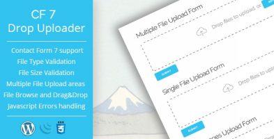 افزونه آپلود کننده فایل Drop Uploader for CF7 وردپرس نسخه 2.3.1