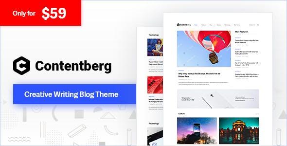 قالب محتوا مارکتینگ و بلاگ Contentberg وردپرس نسخه 1.9.0