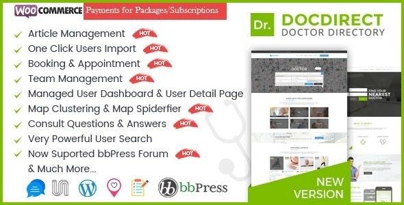 قالب پزشکی و سلامت DocDirect وردپرس نسخه 8.1.1