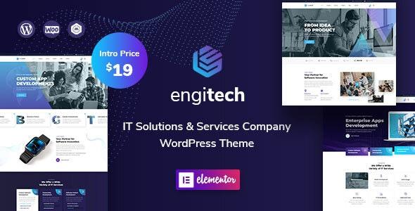 قالب فناوری اطلاعات Engitech وردپرس نسخه 1.3.1