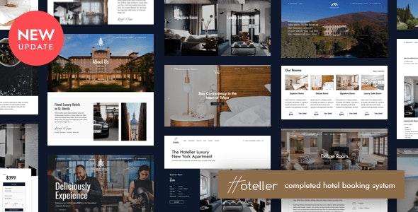 قالب رزرو Hoteller وردپرس نسخه 5.7.0