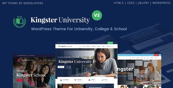 قالب آموزش مدارس، دانشگاه و کالج Kingster وردپرس نسخه 3.1.1