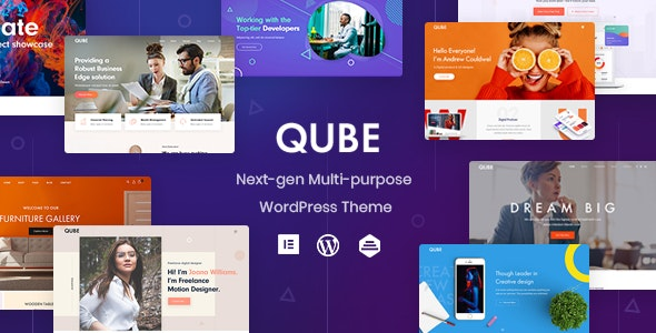 قالب چند منظوره Qube وردپرس نسخه 1.1.5