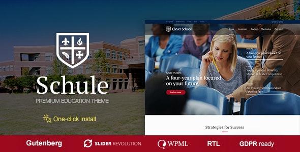 قالب مدرسه و آموزش Schule وردپرس نسخه 1.1.1