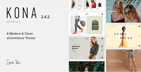 قالب مدرن و فروشگاهی Kona ووکامرس نسخه 2.8.1