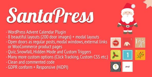 افزونه آزمون و تقویم SantaPress وردپرس نسخه 1.3.7